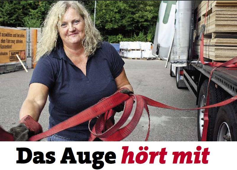 Einzige hörgeschädigte LKW-Fahrerin Verena Künne
