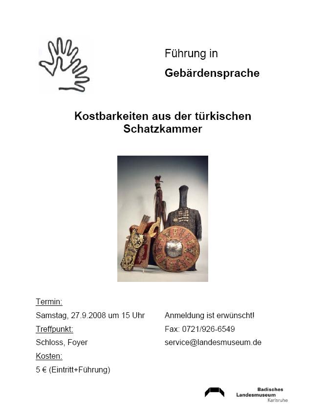 Badisches Landesmuseum Karlsruhe mit Türkenbeute