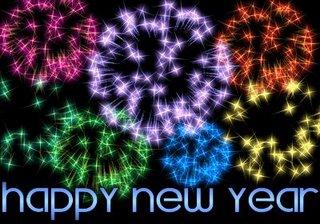 Ein gutes Neues Jahr 2016 - mit buntem Feuerwerk
