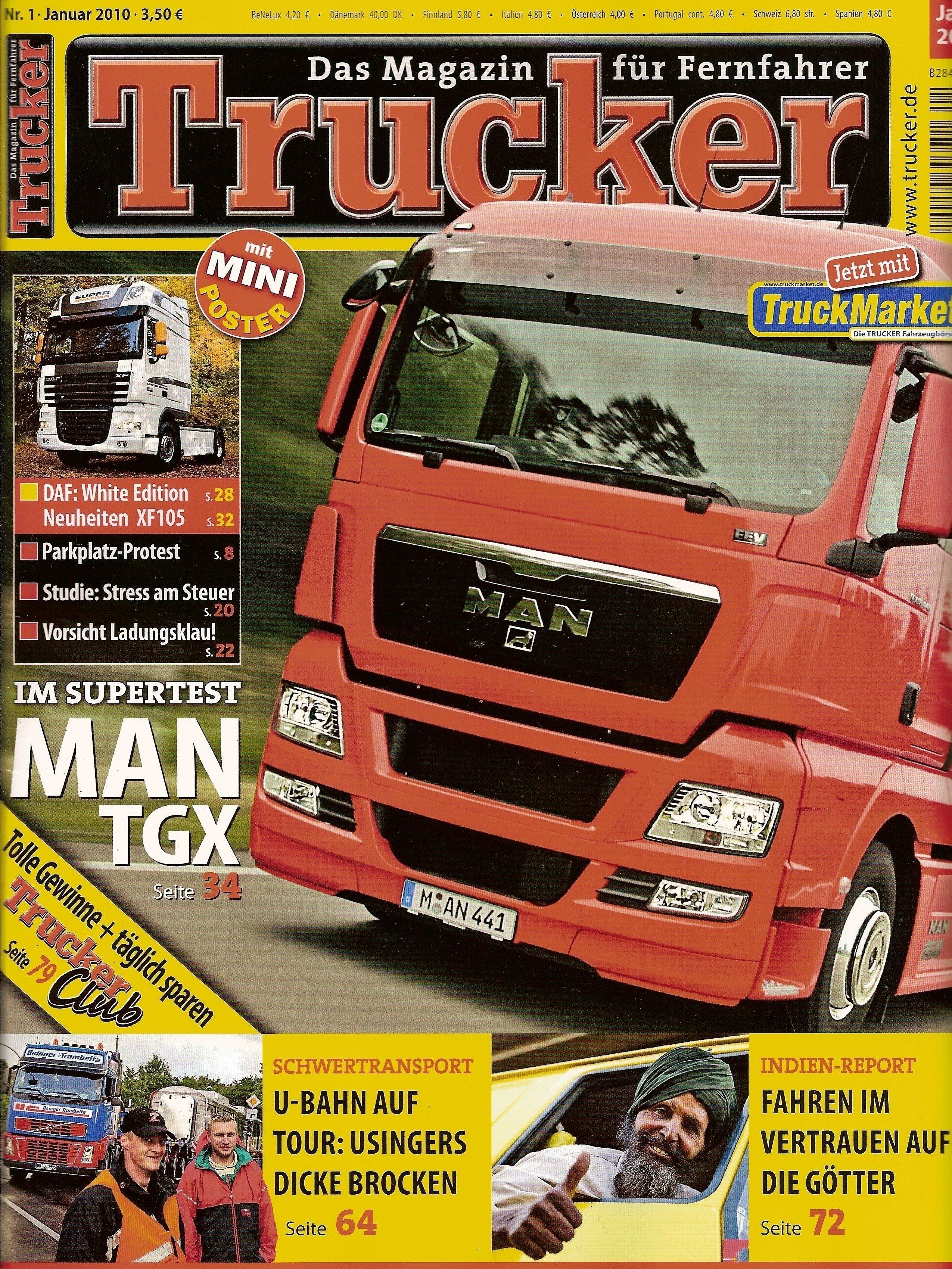 Trucker Zeitschrift mit Artikel über Verena Künne