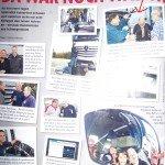 LKW-Fahrerin Verena Künne im Austausch mit LKW-Fahrern