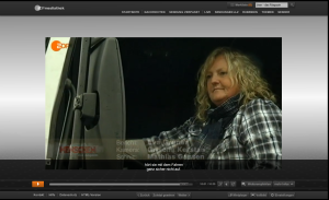 Hörgeschädigte Truckerin Verena Künne