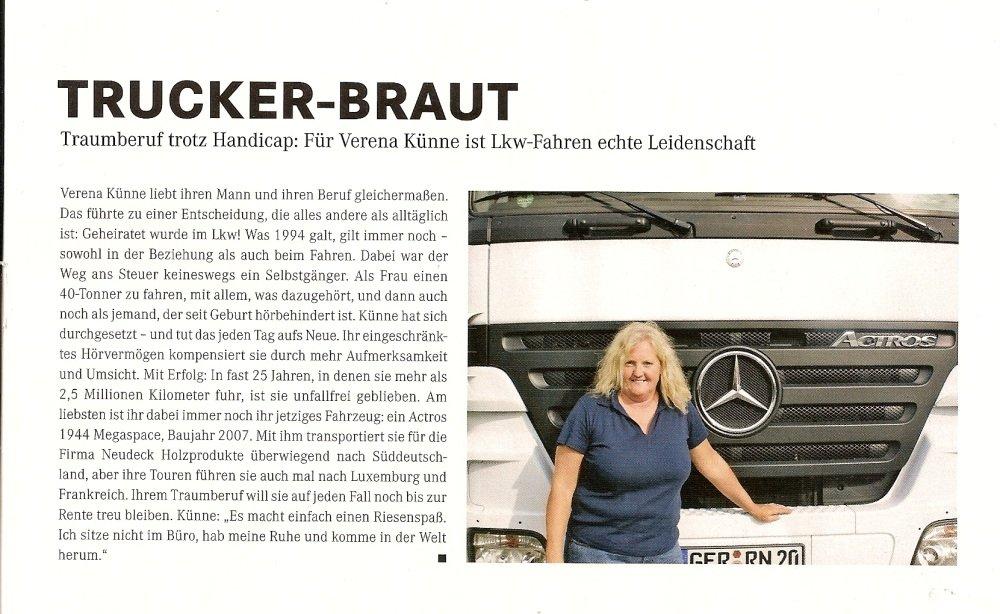 Verena Künne in der Zeitschrift Mercedes-Benz ROUTE 3/2013