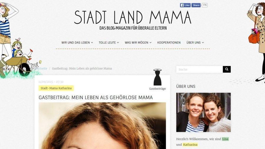 Gastbeitrag- Mein Leben als gehörlose Mama - STADT LAND MAMA