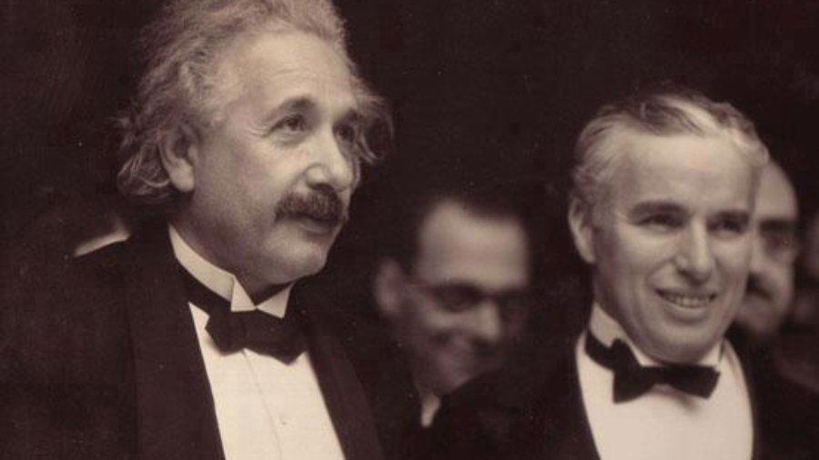 Albert Einstein und Charlie Chaplin