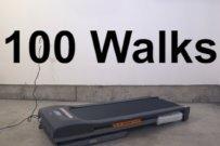 100 Walks mit Untertitel